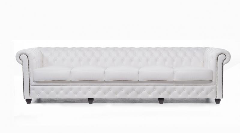 Chesterfield Original 5-seat Sofa White