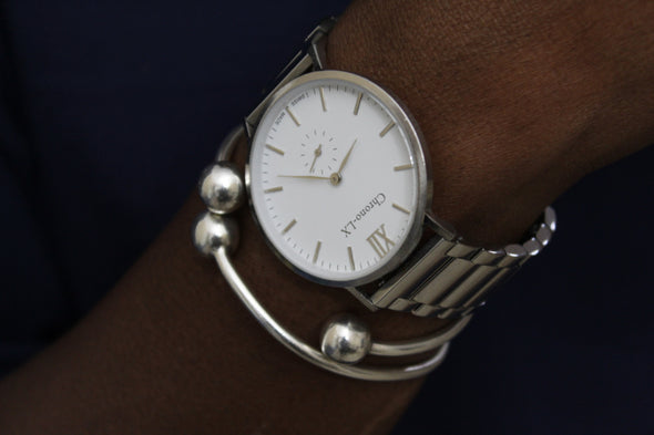 CLASSIC FRANKLIN SILVER AND WHITE STEEL