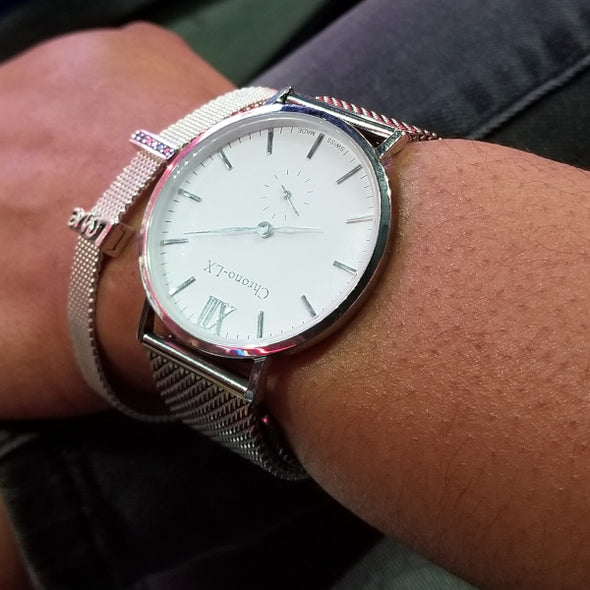 WOMEN CLASSIC FRANKLIN SILVER AND WHITE LADIES WATCH