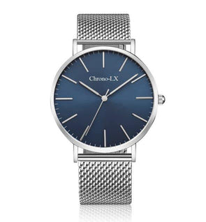 blue dial, blue face stainless steel interchangeable mesh band