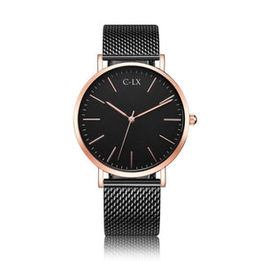 Beautiful black and rose gold watch. miyota movement, 40 case with 22mm mesh band