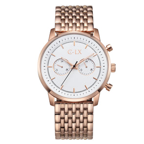 BALDWIN 45 ROSE GOLD / WHITE MENS WATCH