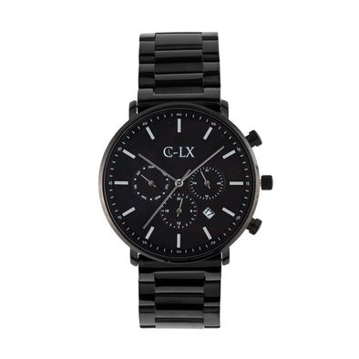 Belmont Black Regal Stainless Steel Mens Chronograph Watch