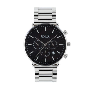 Belmont Key Silver Stainless Steel Mens Chronograph Watch