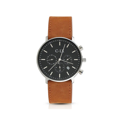 Belmont Sage Tan Leather Band Mens Watch