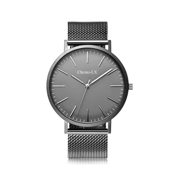 CLASSIC ST MARIE Grey Mesh Band Stainess Steel Womens Watch