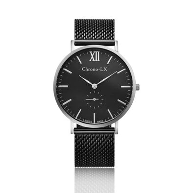 CLASSIC FRANKLIN BLACK AND SILVER LADIES WATCH
