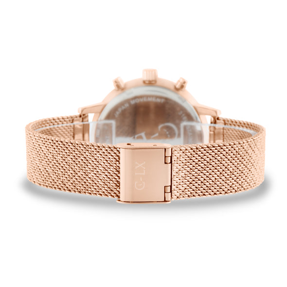 HENLE ROSE GOLD MESH LADIES WATCH
