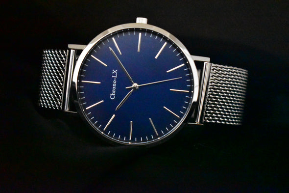 Classic St Marie Blue Dial Stainless Steel Womens Watch
