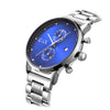 Attucks Blue and Silver Mens Stainless Steel Watch
