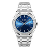 TITAN BLUE AND SILVER STAINLESS STEEL MENS WATCH