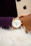 Henle Taupe and Rose Gold Ladies Watch