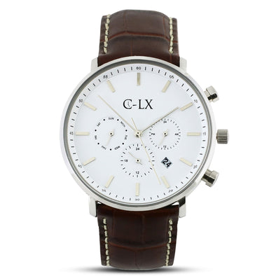 Belmont Brown / White  Mens Watch