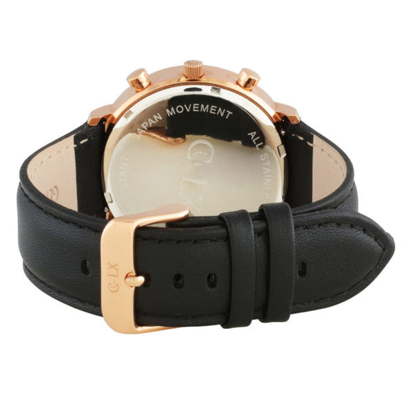 BELMONT BLACK / ROSE GOLD MENS WATCH