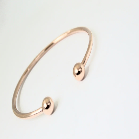 ROSE GOLD BALL CUFF BANGLE BRACELET