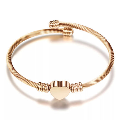 ROSE GOLD CABLE CUFF BRACELET