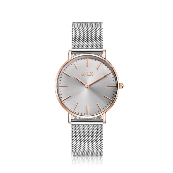 ROSA MESH SILVER / ROSE GOLD MESH BAND LADIES WATCH