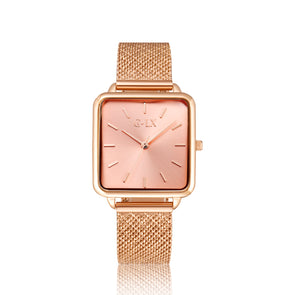 Light Pink Rose Gold Mesh