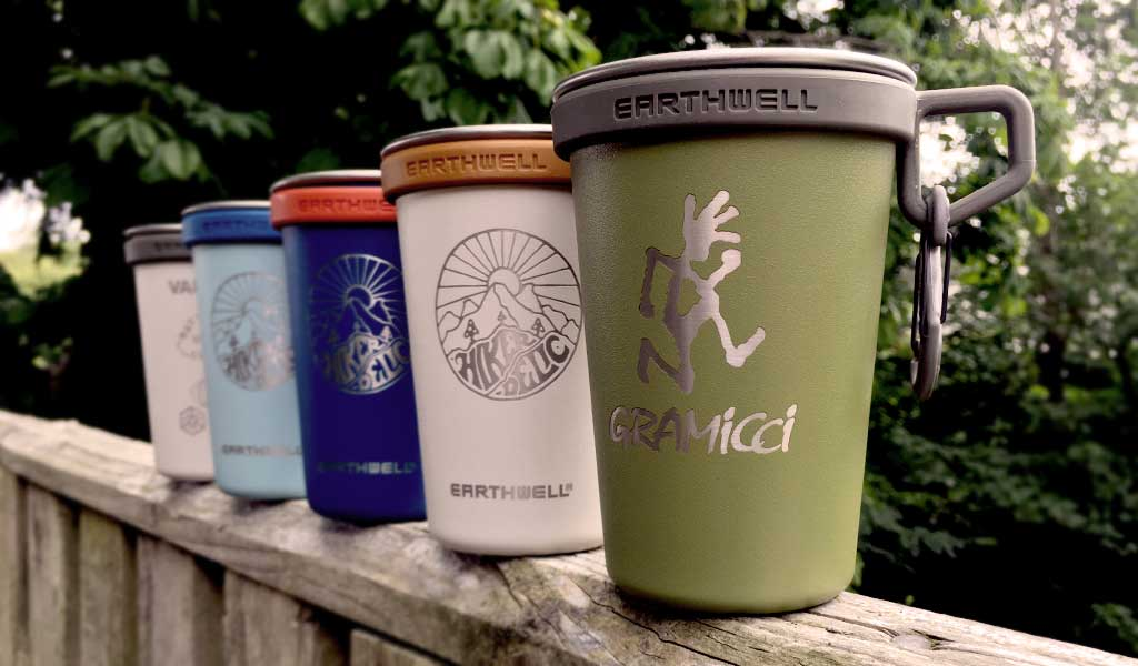 Co-branded Earthwell Stainless Steel Camp Cups