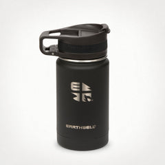 Black Earthwell Roaster Insulated  Coffee Travel Mug with leak proof lid. Designed for hot coffe, tea and cold drinks.
