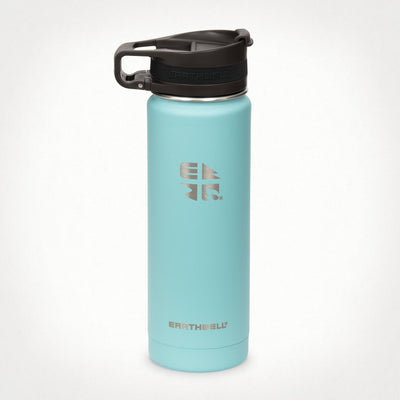 Earthwell Roaster Travel Mug with lid in Aqua Blue