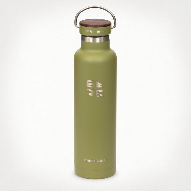 Earthwell Woodie Vacuum Insulated Water Bottle in Sequoia