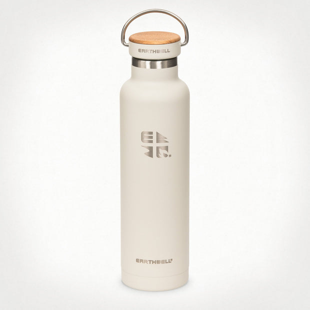 Earthwell Woodie Insulated Stainless Steel Water Bottle in Baja Sand