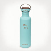 Earthwell Woodie Single Walled Water Bottle in Aqua Blue