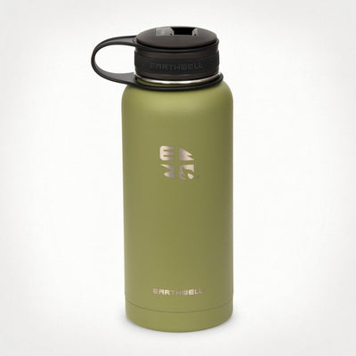 Earthwell Kewler Flask with Bottle Opener Cap in Sequoia Green