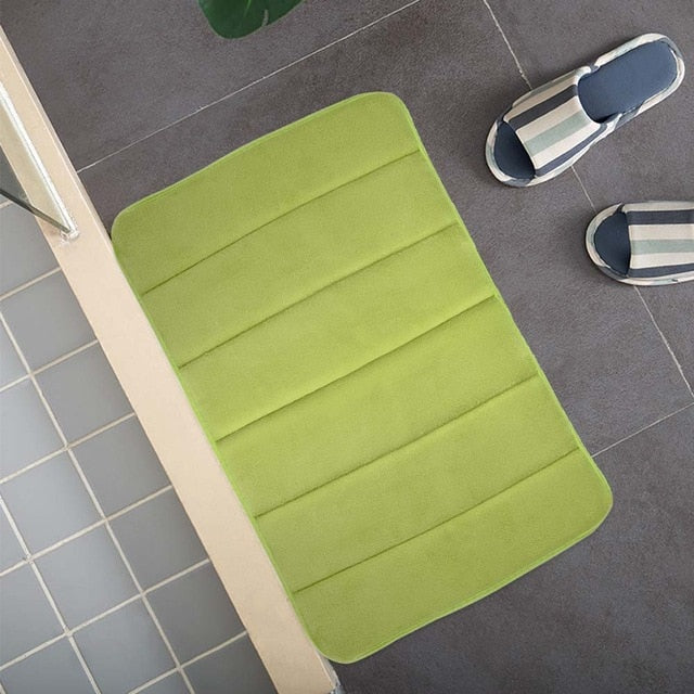Bath Mat Bathroom Non Slip Carpet Rug Absorption Memory