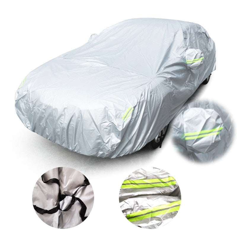 Universal Car Covers Size S/M/L/XL/XXL Indoor Outdoor Full Auot Cover