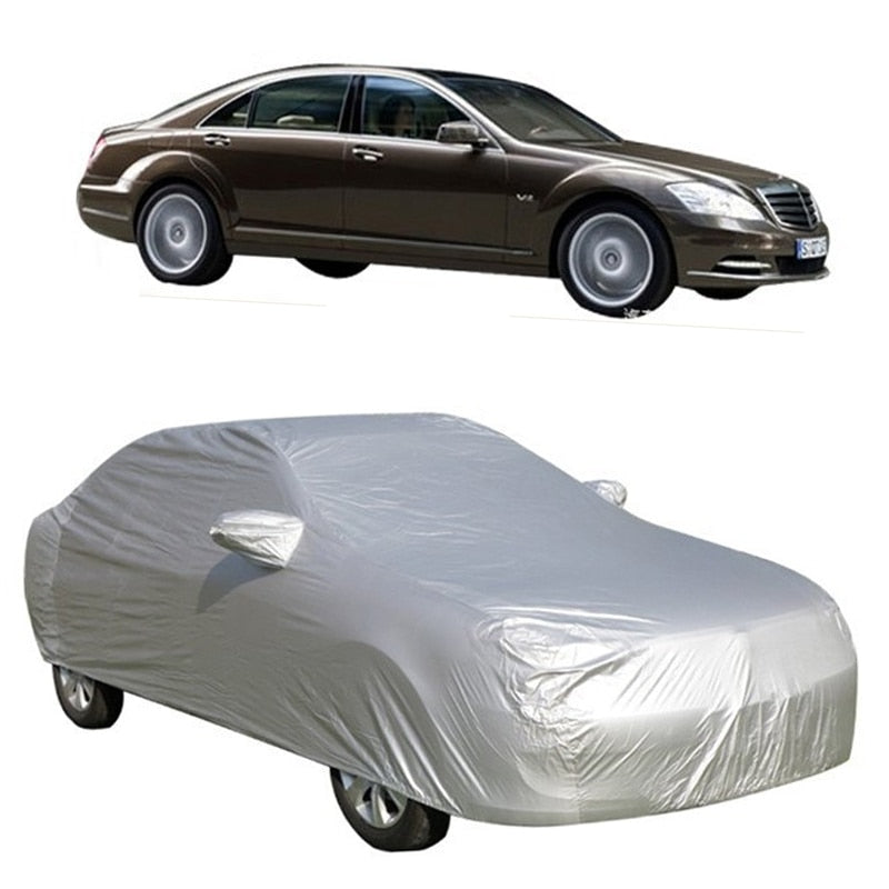 Universal Full Car Covers Snow Ice Dust Sun UV Shade Cover