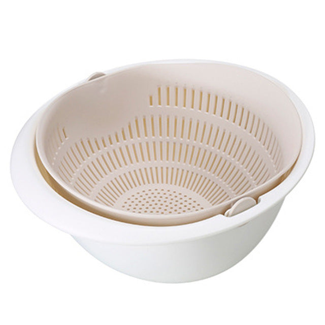Kitchen Drain Basket Bowl Rice Washing Colander Baskets
