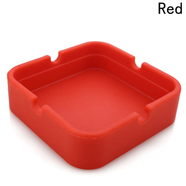1PCS Multicolor Silicone Ashtray Round Ash tray