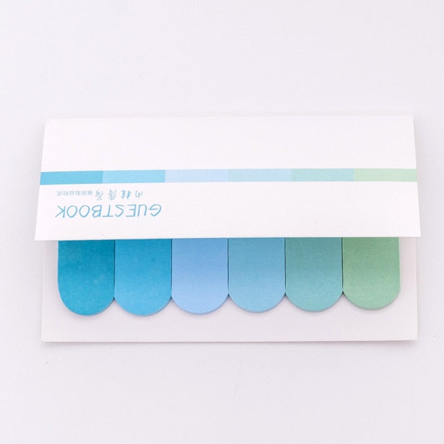 DIY Gradient Color Creative Office Novelty Sticky Notes