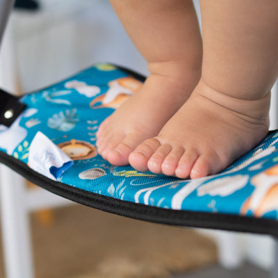 Australian Mum of 3 under 3, launches her latest product, the eco-friendly bamboo, height adjustable highchair footrest