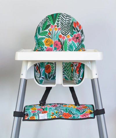 The Footsi Baby Chair Footrest and Matching Cushion Covers - The Limited Edition Prints