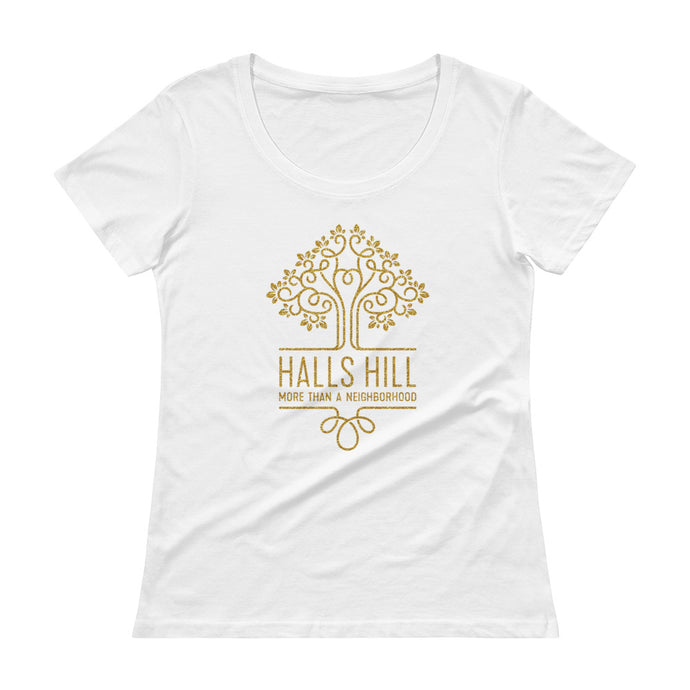 Halls Hill Logo Ladies' Scoopneck T-Shirt