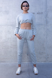 Two Piece Crop Top & Jogger Set