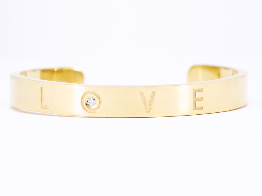 Pulsera en oro con diamante Love