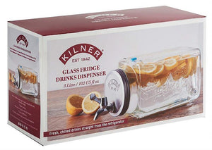 Glass Fridge Drinks Dispenser 3L
