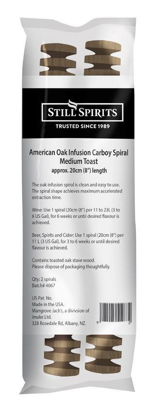 American Charred Oak Infusion Carboy Spirals