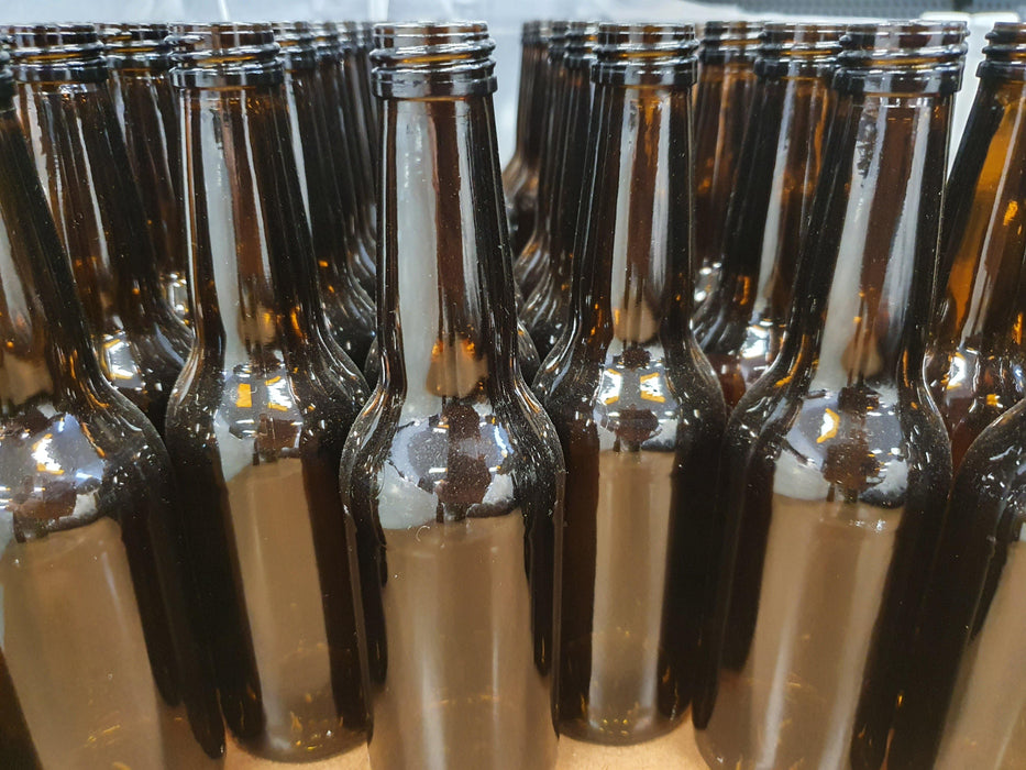 330mL Amber Screw Top Stubbies with safety seal