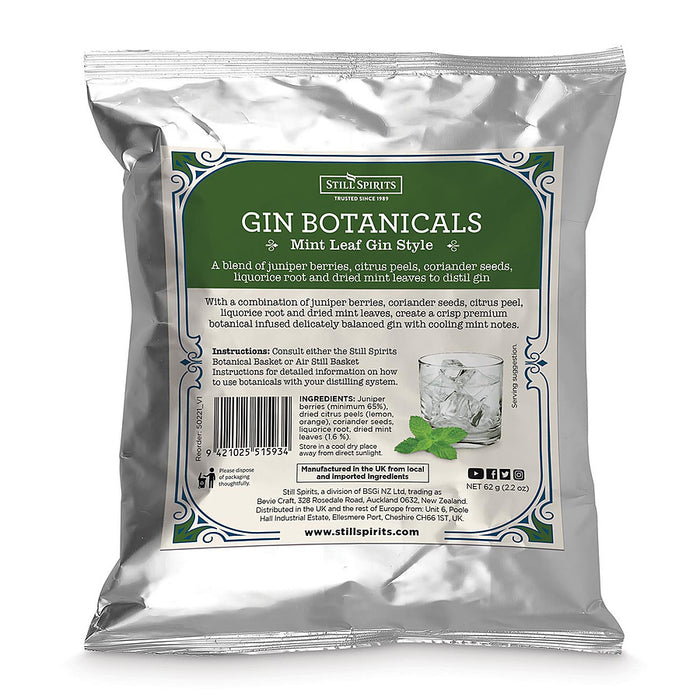 Mint Leaf Gin Botanicals