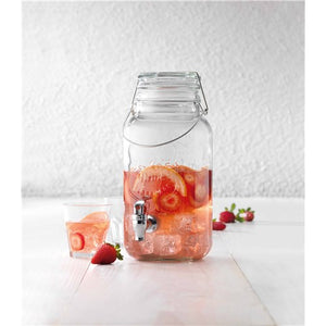 Pave Glass Drink Dispenser 3.8L