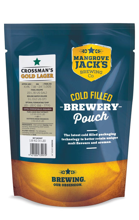 MJ Traditional Series Crossman's Gold Lager