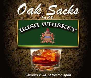 Irish Whiskey Oak Sacks