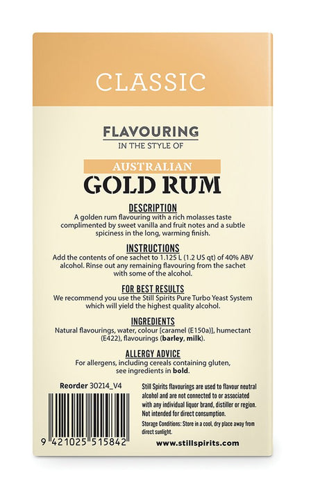 SS Classic Australian Gold Rum Flavouring