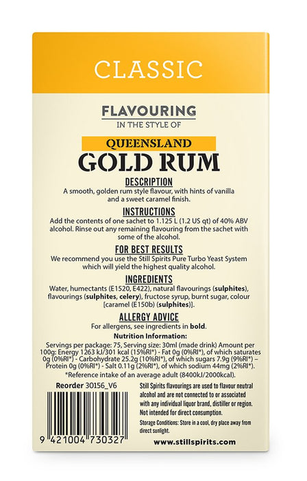 SS Classic Queensland Gold Rum Flavouring