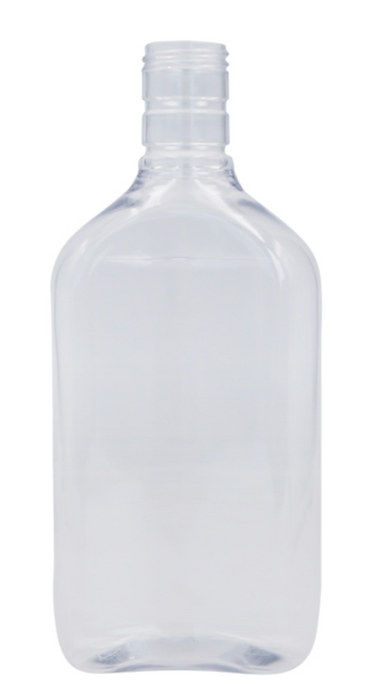 PET Spirit Flask & White Cap (500 ml)